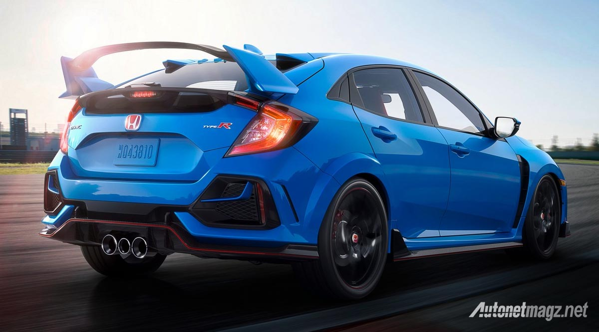 Berita, honda-civic-type-r-2020-facelift: Honda Civic Type R FK8 Facelift, Ini Bedanya!